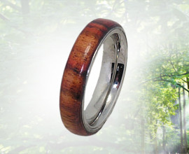 Wood Ring handcrafted from Caribbean Rosewood 5mm