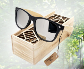 Bamboo Wood Polarized Sun Glasses
