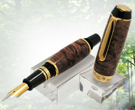 Handcrafted El Toro Compact Fountain Pen Handmade Maple Burl Wood